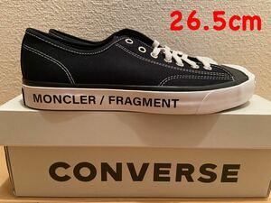 即決26.5cm CONVERSE × MONCLER × FRGMT JACK PURCELL BLACK コンバース モンクレール フラグメント fragment