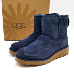 送料無料 未使用 アグ UGG ショートブーツ ムートンブーツ 靴 シューズ 1012497 クリスティン シープスキン USA5 22cm 紺系 レディース