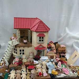 g_t B126 シルバニアファミリー あかりの灯る大きなお家 人形 パーツ シルバニアファミリー以外のおもちゃ有ります。おもちゃ