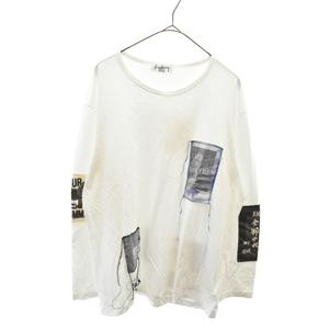 Yohji Yamamoto POUR HOMME(ヨウジヤマモト プールオム) パッチデザイン長袖Tシャツ ロンT 全部やれ