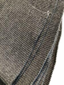 杢グレー☆襟、袖口にそのまま使えるリブニット!10枚セット☆アパレル残布