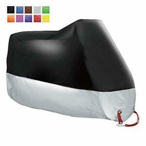 シルバー バイクカバー 中型 【 耐熱 防水 UVカット 】- 破れたら無償交換 安心の180日保証 - ネイキッド アメリカン