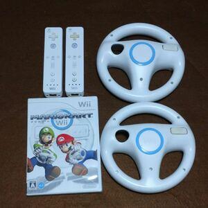 マリオカートWiiマリオカートハンドル 2本Wiiリモコン 2本