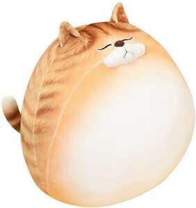 猫抱き枕 もちもちぬいぐるみ 丸っこい 柔らかく カバー洗える 添い寝枕 癒される抱き枕 可愛い 抱き枕 (ライトブラウン, 30CM)