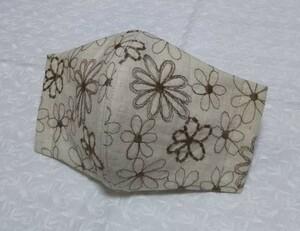 立体インナー ハンドメイド コットンリネン 花柄刺繍