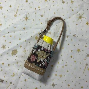 ハンドメイド♪ 手ピカジェル用123 YUWA花柄ブラウン系  ホルダーケース