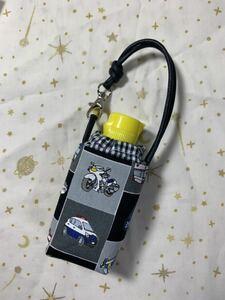 ハンドメイド♪ 手ピカジェル用ケース139 働く車柄 消毒スプレー ホルダーケース 男の子