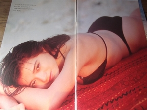 *90 period woman super [ Wakui Emi ⑩] swimsuit 9 page cut pulling out postage 140 jpy