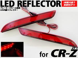 【送料無料】CR-Z ZF1用 LEDリフレクター 24LED 視認性アップ ブレーキ・スモール連動