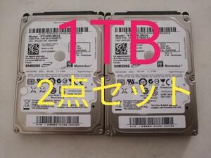 ⑥最安値★2.5インチ HDD1TB 2点セット