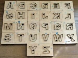 トムソン型 アルファベット 英字 40mm 26個 レザークラフト 抜き型 道具