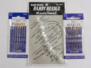 レザークラフト 手縫い用針 23本