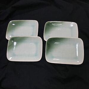 皿 4枚セット ケーキ皿 取り皿 角皿