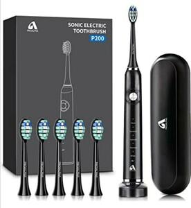 電動歯ブラシ 音波歯ブラシ USB充電式 IPX7防水 5つのモード オートタイマー機能搭載 収納ケース付き ホワイトニング
