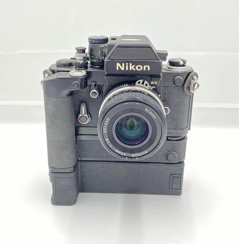 1円~ Nikon F2 フォトミック AS ブラックボディ 一眼レフ フィルムカメラ モータードライブ ニコン NIKKOR 35mm F2.8