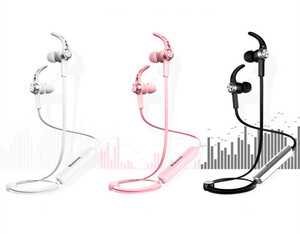 マグネットスポーツイヤホン Bluetooth 4.1 CSRワイヤレスステレオイヤホン ヘッドセット ハンズフリー通話