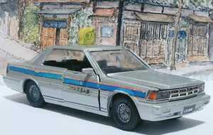 旧 ダイヤペット 1/30 1983 日産 セドリック Y30 6代目 ハードトップ タクシー 訳有 送料無料