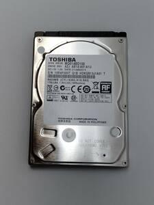 ★送料無料★ 1TB ★ 東芝 2.5インチ 内蔵HDD 9.5mm MQ01ABD100(使用時間:4515h)SATA 美品 動作品 ノートPC