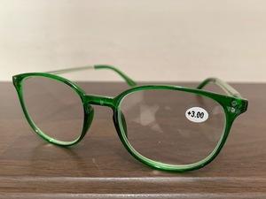 おしゃれ 老眼鏡 ポップ 緑 メンズ レディース リーディンググラス シニアグラス