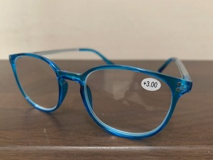 おしゃれ 老眼鏡 拡大鏡 ブルー3.0 ポップ 軽い メンズ リーディンググラス シニアグラス 父の日 祖父祖母 誕生日 プレゼント