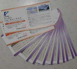 藤田観光株主優待券10枚&日帰り施設利用券2枚 匿名配送 送料無料