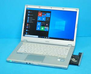 ♪ 良品 上位モデル Full HD Panasonic CF-LX5 ♪ Corei5-6300U/ メモリ4GB/ SSD:128GB M.2 / カメラ/ Office2019/ Win10