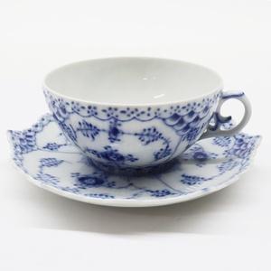 ROYAL COPENHAGEN ロイヤル コペンハーゲン ブルーフルーテッド フルレース カップ&ソーサー 洋食器 コーヒー ティーカップ
