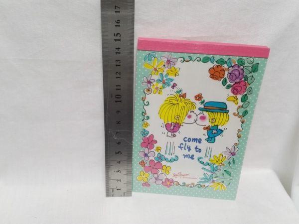 水森亜土 メモ帳 8柄×10枚 シール付き 未使用 昭和レトロ