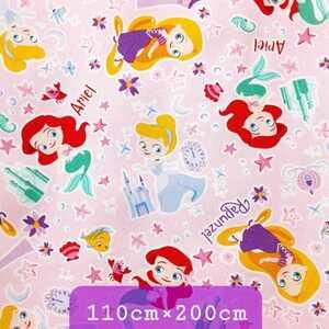 【送料無料 ¥1700】 ☆ディズニー プリンセス(B柄)《日本製》オックス生地 ☆110cm×200cm