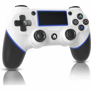 PS4用 コントローラー NEWモデルBluetooth接続 600mAh 高耐久ボタン 二重振動 ヘッドフォンジャック ジャイロセンサー機能日本語取扱説明書