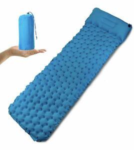 エアーマット インフレーターマット 寝袋マット アウトドア キャンプマット 簡単ンフレー 二層バルブ インフレー枕付き