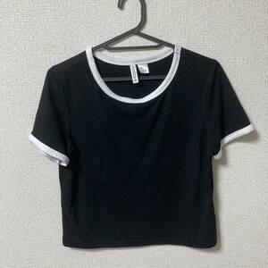 H&M(エイチアンドエム)DIVIDED Tシャツ レディースSサイズ ブラック/ホワイト