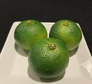 食品サンプル 青柚子3個 小