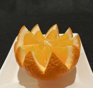 食品サンプル オレンジ花切り
