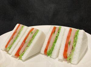 食品サンプル サンドウィッチ トマトキューリハムチーズ 一点のみ