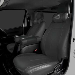 ◆01367 HELIOS ヘリオス 200系 ハイエース 1型 2型 3型 4型 5型 S-GL PVC レザー シート カバー BK ブラック
