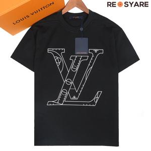 新品同様 ルイヴィトン 2021AW NBA フロントアンドバック プリント LV レタリング クルーネック 半袖 Tシャツ カットソー 箱付き XS 43491