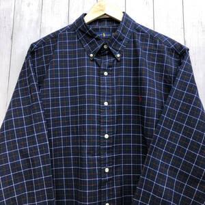 ラルフローレン POLO Ralph Lauren Polo 長袖シャツ チェックシャツ メンズ ワンポイント XLサイズ 7-257