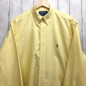 ラルフローレン POLO Ralph Lauren Polo 長袖シャツ メンズ オックスフォードシャツ ワンポイント サイズ17(XLサイズ相当) 7-263