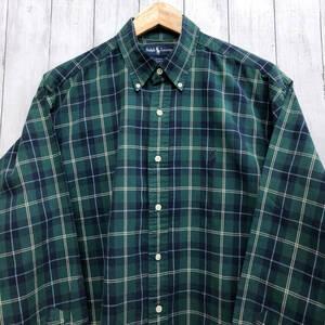 ラルフローレン POLO Ralph Lauren Polo 長袖シャツ チェックシャツ メンズ ワンポイント Lサイズ 7-274