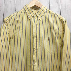 ラルフローレン POLO Ralph Lauren Polo 長袖シャツ ストライプシャツ メンズ ワンポイント サイズ161/2 (L~XLサイズ相当) 7-284