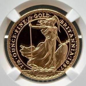 【世界72枚!】最高鑑定 1987年 イギリス ブリタニア 50ポンド 金貨 NGC PF70 ULTRA CAMEO アンティークコイン モダン 資産保全 投資
