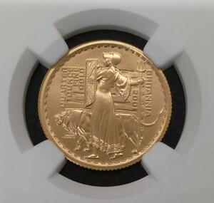 【世界16枚!】最高鑑定 2001年 ブリタニア ウナとライオン イギリス 25ポンド 1/4オンス 金貨 NGC PF70UC モダンコイン アンティーク 投資