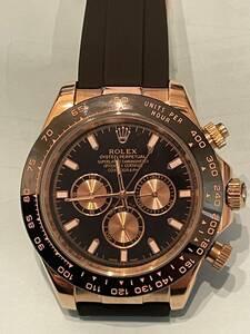 ロレックス ROLEX デイトナ 116515LN ブラック/ピンク文字盤 未使用 腕時計