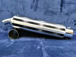 Fタイプ 60.5π 黒メッキ/汎用 サイレンサーゼファー400 ZRX400 Z1 Z2 Z400FX Z400GPフォーサイト 絶版 モリワキBEET キジマ ヨシムラ外装