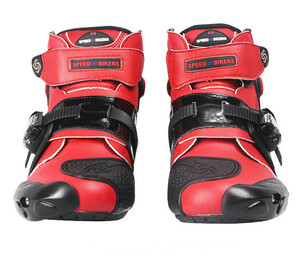 LDL2348# レーシングブーツ メンズ バイク用靴 ツーリング ライディングシューズ オートバイマジックテープ式