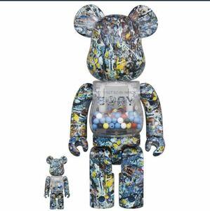 【新品未開封】 MY FIRST BE@RBRICK B@BY Jackson Pollock Studio Ver.100% & 400% MEDICOM TOY PLUS ベアブリック メディコムトイ