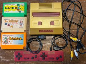 ファミコン 互換品、ソフト3本セット Nintendo ニンテンドー ファミコン本体 ソフト マリオ ヨッシー