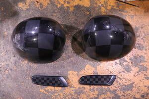 BMW Mini F56 black checker door mirror cover * side s cut ru set