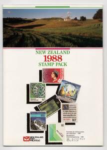 ニュージーランド 1988年発行記念切手公式イヤーパック(27種+小型シート3種) 未使用NH